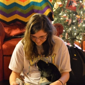 Teen Girl and her Dog