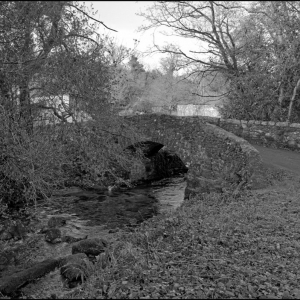 Bridge over the Glaze Brook near the old corn mill