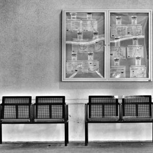 Deserted bus terminal