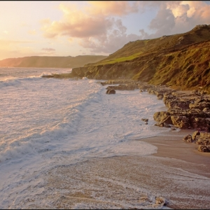 Late afternoon light at Mattiscombe Sands