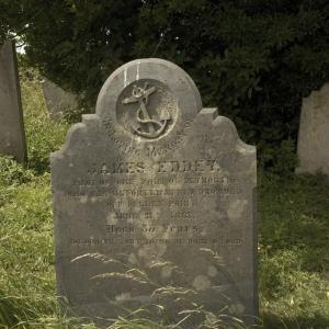 The grave of James Eddey, Rame Church