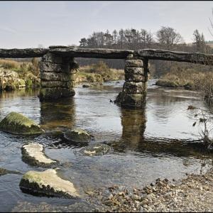 Clapper bridge at Postbridge