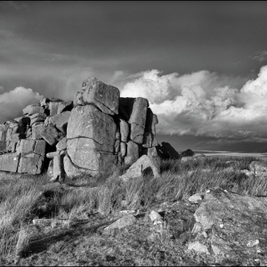 Clouds build and threaten over the high moor